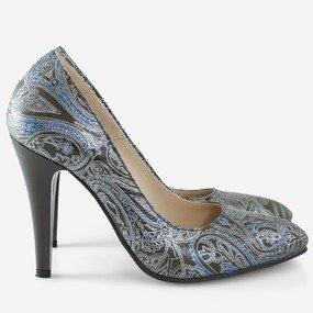 Pantofi stiletto cu imprimeu oriental Penelope