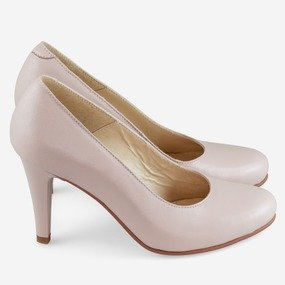 Pantofi din piele nude roze Hannah