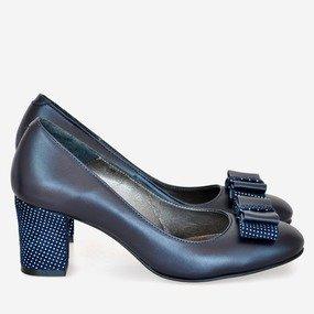 Pantofi office din piele bleumarin Janet