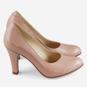 Pantofi office din piele nude inchis Coralie