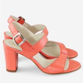 Sandale din piele naturala corai Anne