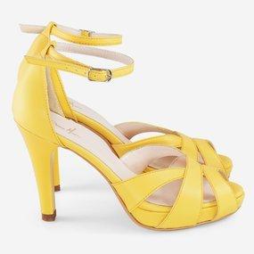 Sandale galbene din piele naturala Citron