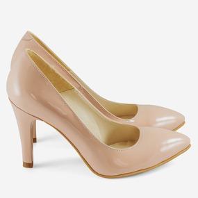 Pantofi dama Stiletto nude din piele naturala Betsy