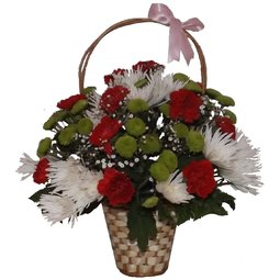 Cos floral de sarbatoare