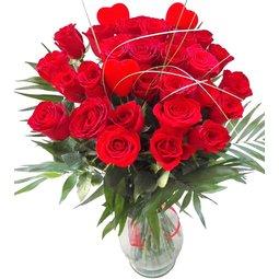 Trandafiri cu inimioare