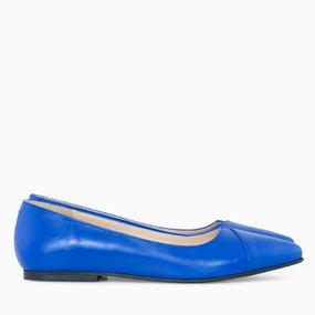 Balerini din piele naturala albastra Ottilie