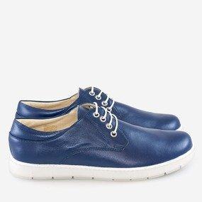 Pantofi barbatesti din piele naturala bleumarin