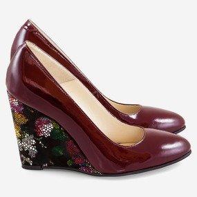 Pantofi cu toc ortopedic Plum