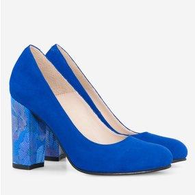 Pantofi dama din piele naturala albastra Coralie