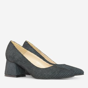 Pantofi dama din piele naturala neagra Gemma