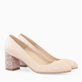 Pantofi dama din piele nude somon Cassandra