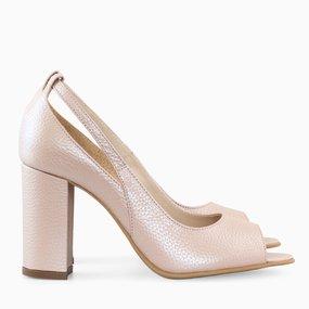 Pantofi dama din piele naturala roz sidef Karlee