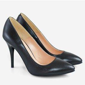 Pantofi dama Stiletto negri din piele naturala Alana