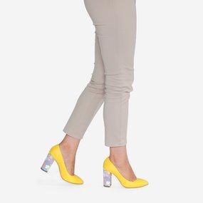 Pantofi din piele naturala galbena Umeko