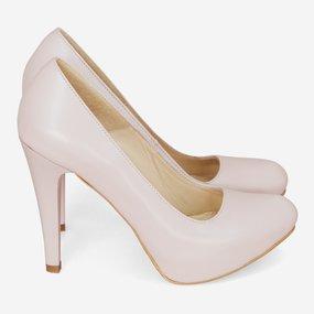 Pantofi dama nude din piele naturala  nude roze Cory