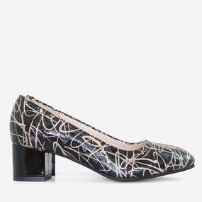 Pantofi office din piele naturala neagra Naida