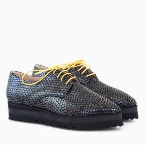 Pantofi oxford piele naturala gri Handsome
