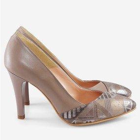 Pantofi taupe Amaretto