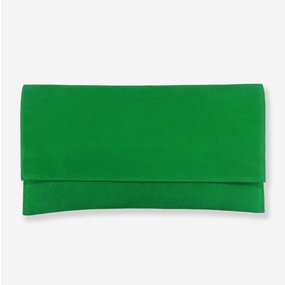 Plic din piele intoarsa verde