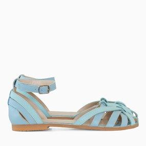 Sandale cu talpa joasa din piele naturala menta Anna