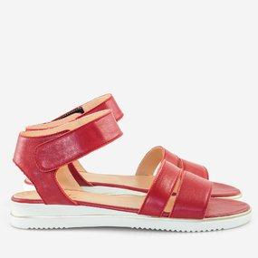 Sandale cu talpa joasa rosii Kendall