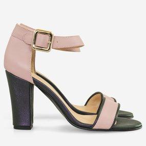 Sandale cu toc mov cu lila Aveline