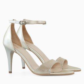Sandale din piele naturala aurie Hana