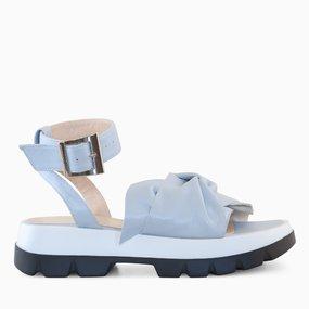 Sandale din piele naturala bleu Silvana