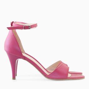 Sandale din piele naturala fuchsia Maisy