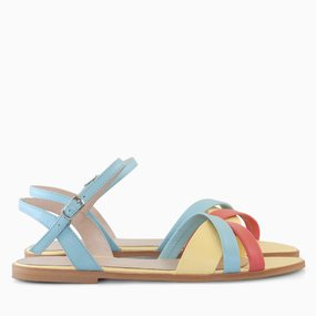 Sandale din piele naturala galbena Allegra