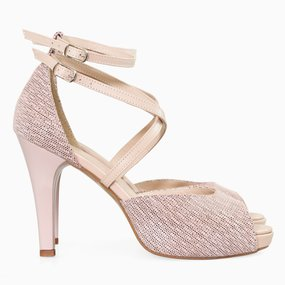 Sandale din piele naturala nude somon Aster