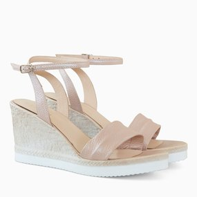 Sandale din piele naturala roz Jewel