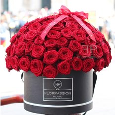 111 Red Naomi Roses Dome Box