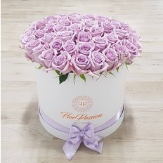 Flowers Box | Lavander Roses in a Gift Box | Million Roses by FlorPassion