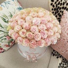 Antique Pink Roses Box