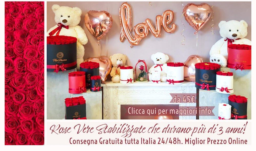 Scatola Rose Stabilizzate spedizione gratuita Ital
