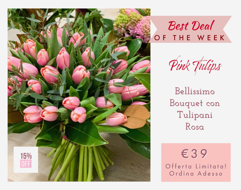 Bouquet Tulipani Rosa Consegna Fiori a Domicilio F