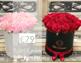 Red Roses Box Flowers Delivery Milan
