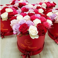 Rose Rosse in Scatola | Million Roses Milano | FlorPassion
