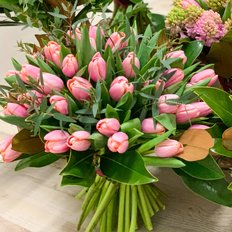 Pink Tulips Bouquet | Milan Flowers Delivery | Local Florist