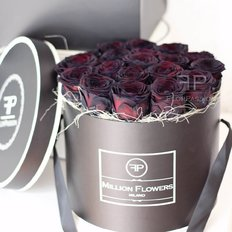 Black Roses Box Million Flowers