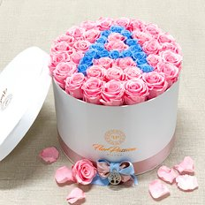 Personalised Letter Box Preserved Roses | FlorPassion Milano