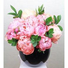 Coral Peony Vase