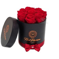 Preserved Red Roses Box | Send Flowers to Milan | FlorPassion