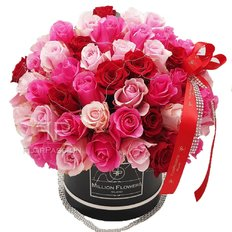 Scatole Rose Rossa Fucsia | Million Flowers Milano