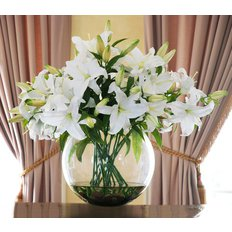 White Casablanca Lilies | Luxury Flowers Milan