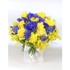 Blue & Yellow Bouquet | Send Flowers to Milan