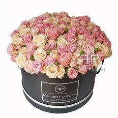 Rose Box | Light Pink Tros Roses | Million Flowers by FlorPassion