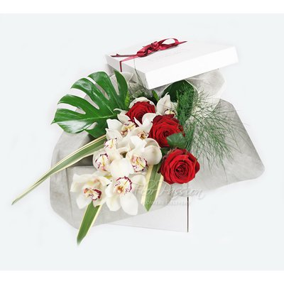 Rose Rosse & Orchidee Gift Box