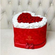 Box Cuore Rose Stabilizzate | San Valentino | Fiorista Milano